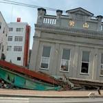 震災直後の男山本店