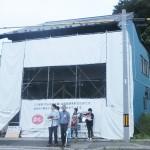 応急修復後の武山米店
