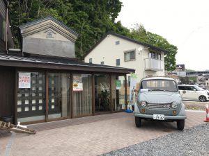武山米店に展示されたクラシックカー