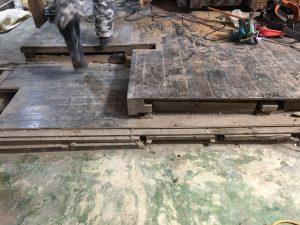 床の改修跡